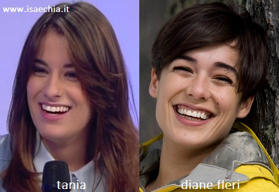 Somiglianza tra Tania e Diane Fleri