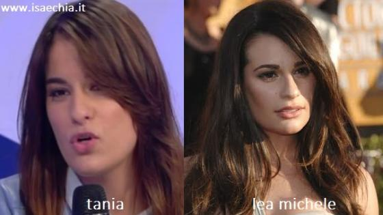 Somiglianza tra Tanya Ricci e Lea Michele
