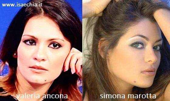 Somiglianza tra Valeria Ancona e Simona Marotta