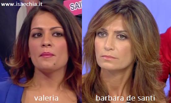 Somiglianza tra Valeria e Barbara De Santi