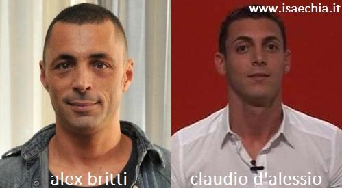 Somiglianza tra Alex Britti e Claudio D'Alessio