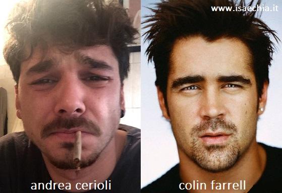 Somiglianza tra Andrea Cerioli e Colin Farrell