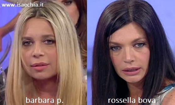 Somiglianza tra Barbara P. e Rossella Bova