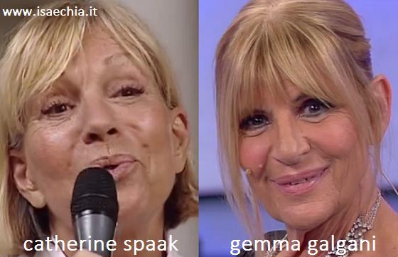 Somiglianza tra Catherine Spaak e Gemma Galgani