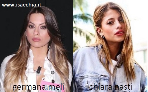 Somiglianza tra Germana Meli e Chiara Nasti