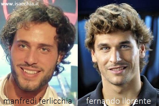 Somiglianza tra Manfredi Ferlicchia e Fernando Llorente