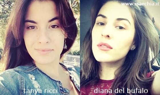 Somiglianza tra Tanya Ricci e Diana Del Bufalo