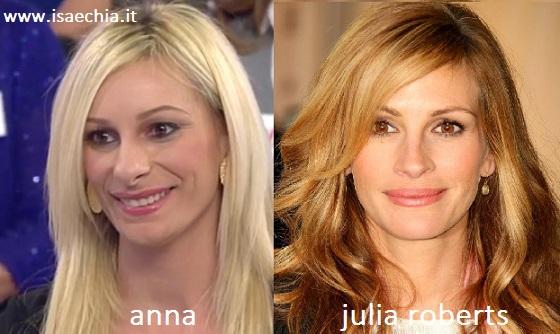 Somiglianza tra Anna e Julia Roberts