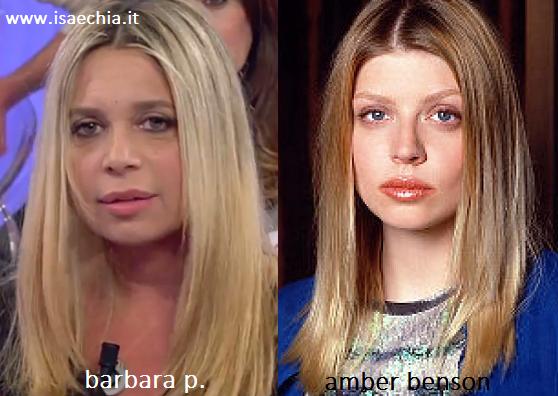 Somiglianza tra Barbara P. e Amber Benson