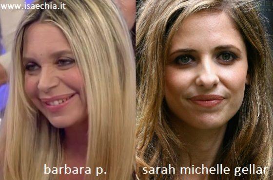 Somiglianza tra Barbara P. e Sarah Michelle Gellar