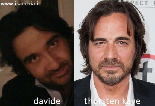 Somiglianza tra Davide e Thorsten Kaye