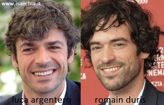 Somiglianza tra Luca Argentero e Romain Duris