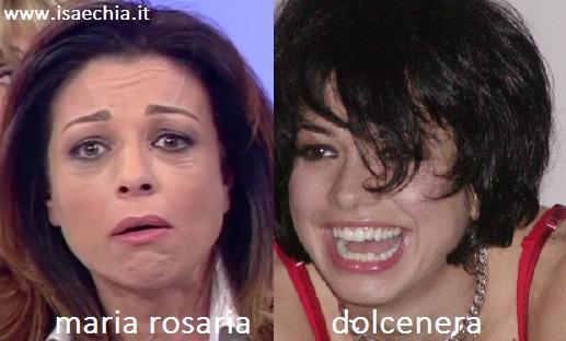 Somiglianza tra Maria Rosaria e Dolcenera