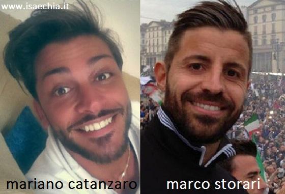 Somiglianza tra Mariano Catanzaro e Marco Storari
