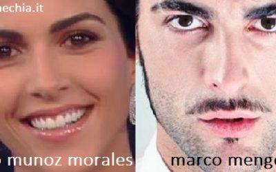 Somiglianza tra Rocìo Munoz Morales e Marco Mengoni