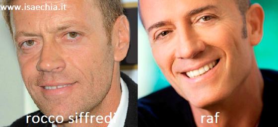 Somiglianza tra Rocco Siffredi e Raf
