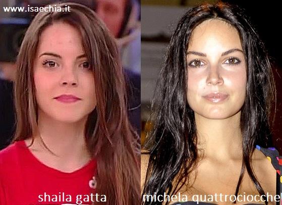 Somiglianza tra Shaila Gatta e Michela Quattrociocche