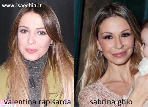 Somiglianza tra Valentina Rapisarda e Sabrina Ghio