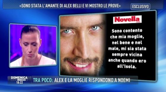 Domenica Live - Noemi Addabbo e Alex Belli