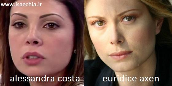 Alessandra la corteggiatrice di Amedeo assomiglia ad Euridice Axen