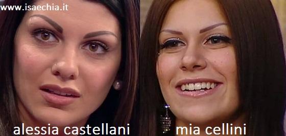 Somiglianza tra Alessia Castellani e Mia Cellini