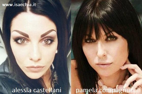 Somiglianza tra Alessia Castellani e Pamela Compagnucci