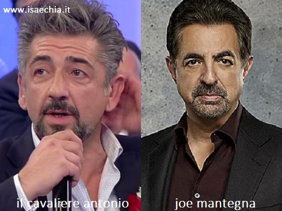 Somiglianza tra Antonio e Joe Mantegna