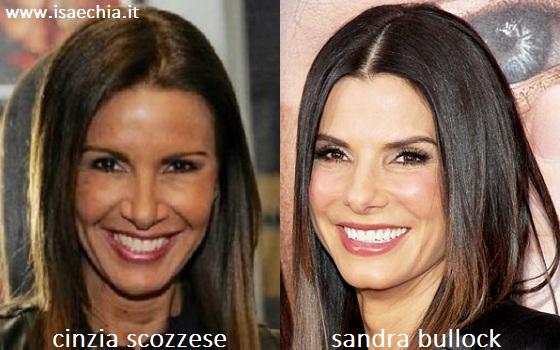 Somiglianza tra Cinzia Scozzese e Sandra Bullock