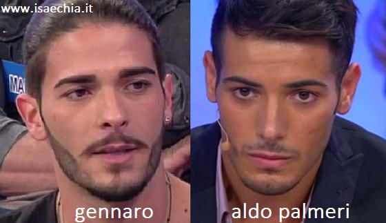 Somiglianza tra Gennaro e Aldo Palmeri