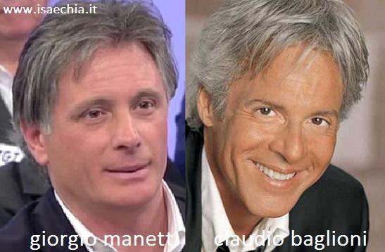 Somiglianza tra Giorgio Manetti e Claudio Baglioni