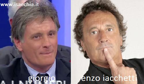 Somiglianza tra Giorgio e Enzo Iacchetti