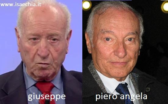 Somiglianza tra Giuseppe e Piero Angela