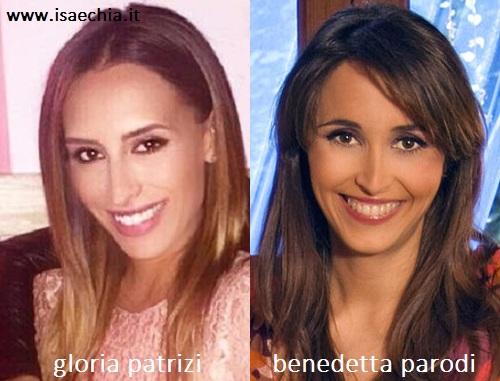 Somiglianza tra Gloria Patrizi e Benedetta Parodi