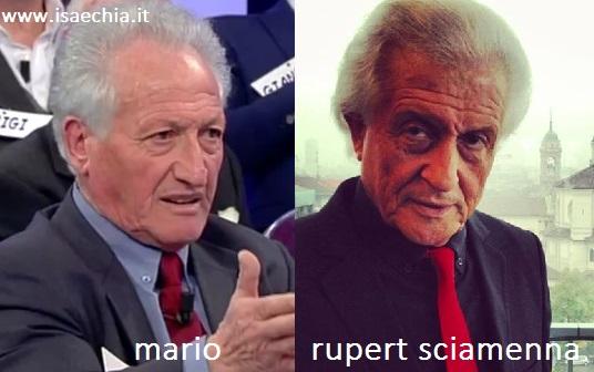 Somiglianza tra Mario e Rupert Sciamenna