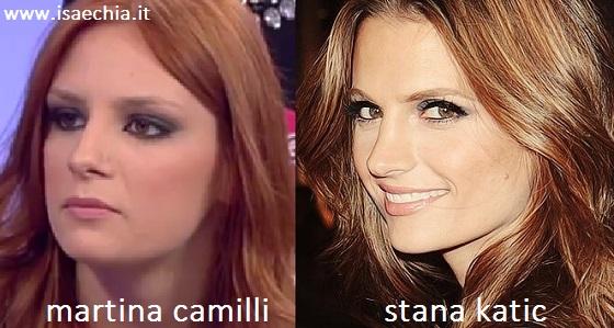 Somiglianza tra Martina Camilli e Stana Katic