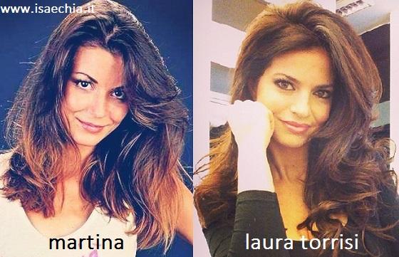 Somiglianza tra Martina e Laura Torrisi