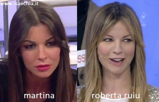Somiglianza tra Martina e Roberta Ruiu