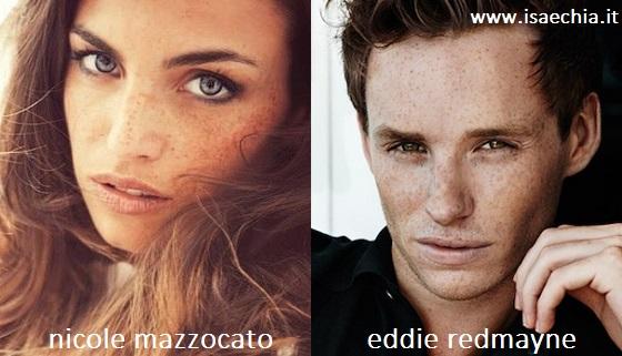 Somiglianza tra Nicole Mazzocato e Eddie Redmayne