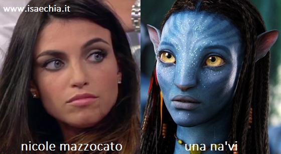 Somiglianza tra Nicole Mazzocato e i Na'vi di 'Avatar'