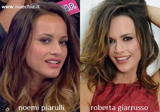 Somiglianza tra Noemi Piarulli e Roberta Giarrusso