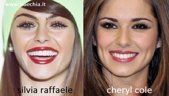 Somiglianza tra Silvia Raffaele e Cheryl Cole