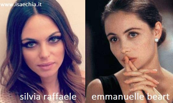 Somiglianza tra Silvia Raffaele e Emmanuelle Beart