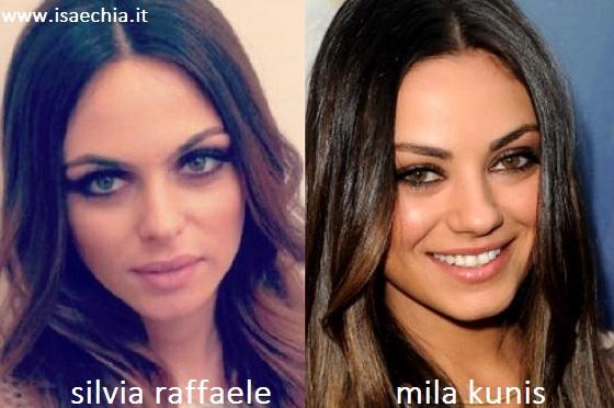 Somiglianza tra Silvia Raffaele e Mila Kunis