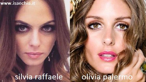 Somiglianza tra Silvia Raffaele e Olivia Palermo