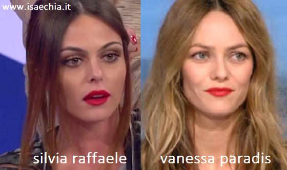 Somiglianza tra Silvia Raffaele e Vanessa Paradis