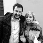Matteo Salvini e Sonia Oreti