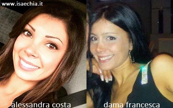 Somiglianza tra Alessandra Costa e Francesca Salerno