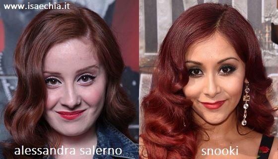 Somiglianza tra Alessandra Salerno e Snooki