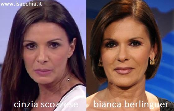 Somiglianza tra Cinzia Scozzese e Bianca Berlinguer