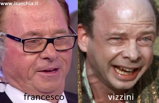 Somiglianza tra Francesco e Vizzini